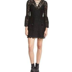 Rachel Zoe Lace-up Black Dress